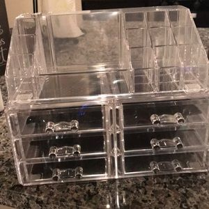 Jewelry - Clear 8 drawer makeup or Jewelry box (NEW!)